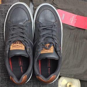 Levi's Turner Navy & Tan Low Top Sneaker